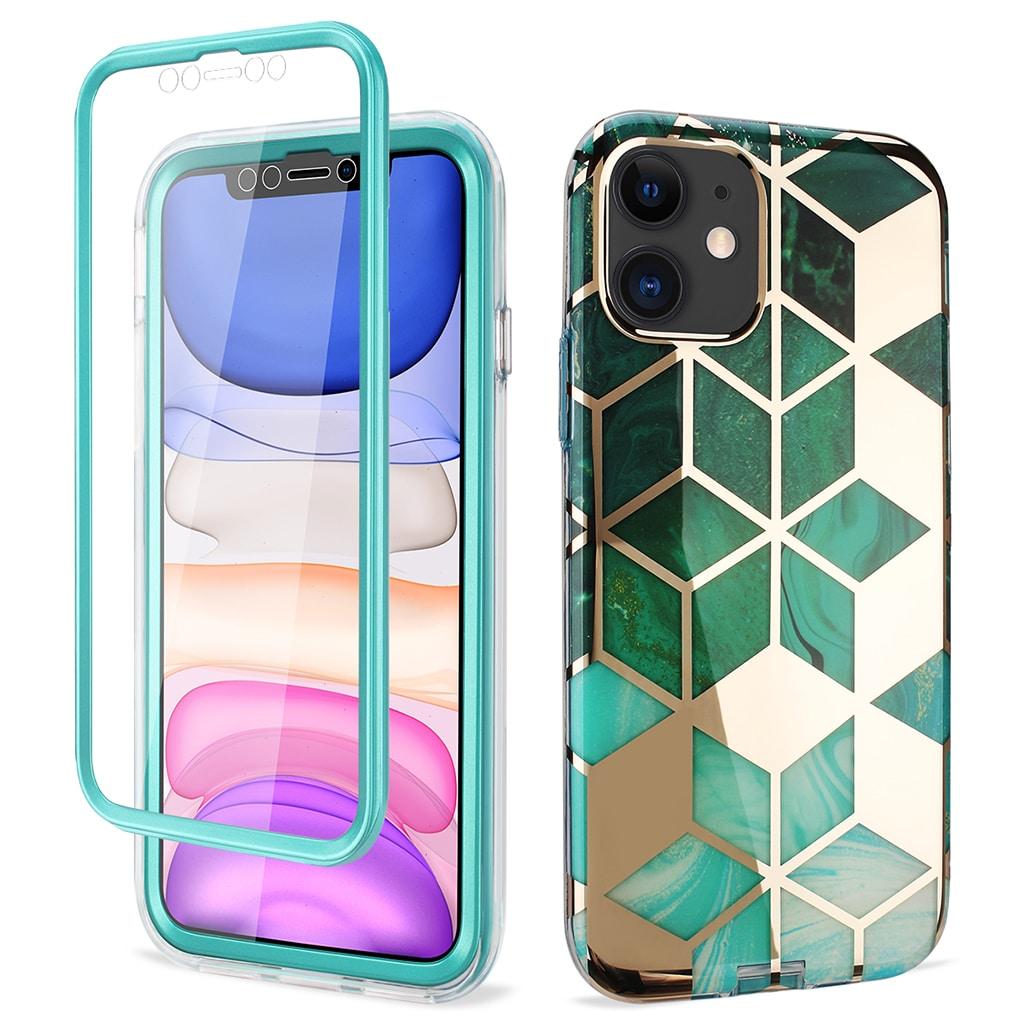 Coque iPhone 11 - Marbre vert émeraude/or - iCoque