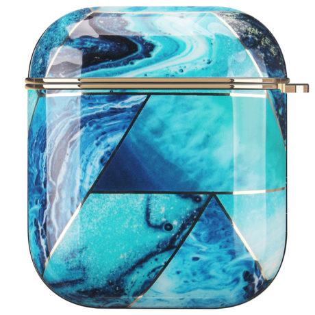 Coque de Protection AirPods - Marbre Bleu océan