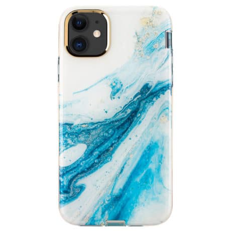 Coque de Protection iPhone 11 - Marbre bleu nacré
