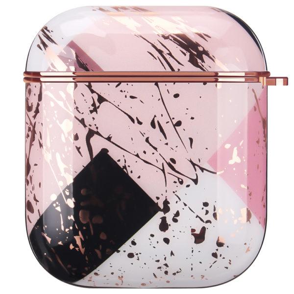 Coque de Protection AirPods - Marbre Rose abstrait