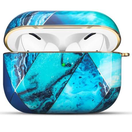 Coque de Protection AirPods Pro - Marbre Bleu océan