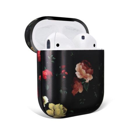 Coque de Protection AirPods - Noir fleurs