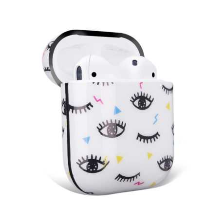 Coque de Protection AirPods - Blanc yeux